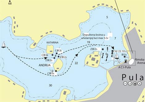 Karte Kroatien Pula.Pula